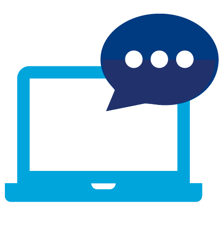 Laptop Chat Icon